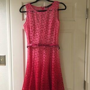 Pink Ombré Lace Dress
